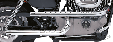 "PAUL YAFFE'S ""X-PIPES"" DRAG-PIPES FÜR SPORTSTER VON SUPERTRAPP"