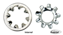INTERNAL AND EXTERNAL LOCK WASHERS
