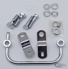 CHROME BREATHER AND AIR FILTER MOUNT KIT