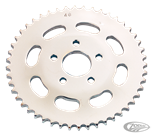 CHROME PLATED REAR SPROCKET WITH OVAL CUTOUTS