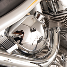 CHROME PLATED CUSTOM OIL TANK FOR SOFTAIL