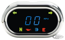 ODYSSEY FLAT OVAL DIGITAL SPEEDOMETERS BY DAKOTA DIGITAL