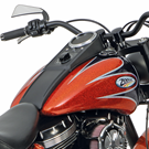 CUSTOM STYLE TANKS WITH DASH MOUNT FOR SOFTAIL TWIN CAM
