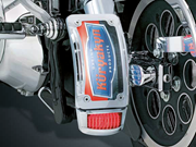 Curved Side Mount License Holder for Harley