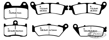DISC BRAKE PADS FOR VICTORY