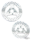 POLISHED STAINLESS STEEL DISC BRAKE ROTORS