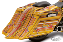 """BAGGER BLUES"" STRETCHED SADDLEBAGS KITS"