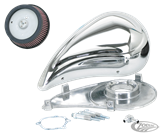 "CHROME ""SUPER SUCKER"" SMOOTHIE AIR CLEANER KIT FOR KEIHIN CV"