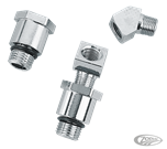 CHROME PLATED OIL GAUGE FITTINGS