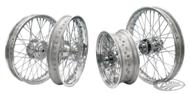 HAND LACED WHEEL ASSEMBLIES WITH ALUMINUM AKRONT BY MORAD RIMS