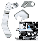 CHROME PASSENGER PEG BRACKET COVER SET FOR DYNA GLIDE
