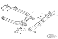 SWINGARM PARTS FOR 2004 TO PRESENT SPORTSTER