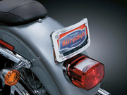 Curved Tip-Back License Plate Frame