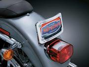 Curved Tip-Back License Plate Frame