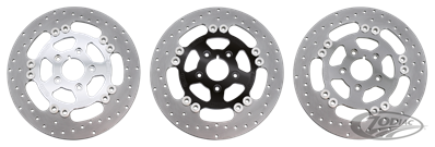 HARRISON'S FULL FLOATING STAINLESS IRON DISC BRAKE ROTORS, WITH BILLET ALUMINUM CENTER