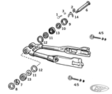 SWINGARM PARTS FOR 1954-1981 SPORTSTER
