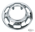 CHROME-PLATED SLOTTED WHEEL HUB COVER