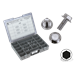 CHROME PLATED INDENTED HEX SERRATED FLANGE BOLTS ASSORTMENT