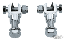 CHROME FOOT PEG CLEVIS SET