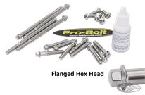 PRO-BOLT HIGH LUSTER POLISHED STAINLESS STEEL BOLT KITS