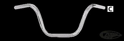 ZODIAC ONE INCH DIAMETER APE HANGER HANDLEBARS