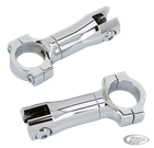 CHROME BILLET FOOT PEG MOUNTS