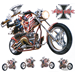 "DECAL ADESIVE PER MOTO E SERBATOI LETHAL THREAT ""BIKE TATTOOS"""