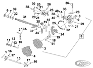 SHIFTER PARTS FOR 1952-1956 K & 1957-1990 SPORTSTER