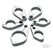 PRO-ONE CHROME PLATED BILLET ALUMINUM CABLE GUIDE CLAMPS