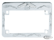 DELUXE CHROME LICENSE PLATE FRAME
