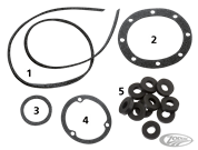 GASKET KITS, GASKETS, O-RINGS AND SEALS FOR TIN PRIMARY ON 4 SPEED BIG TWIN 1936 THRU 1964