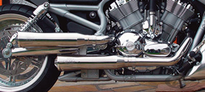 BSL CLASSIC STYLE 2 INTO 2 EXHAUST SYSTEM FOR V-ROD