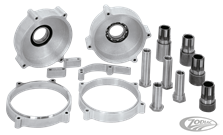 EXTENDED SPROCKET SHAFTS & NUTS, PRIMARY SPACERS AND TRANSMISSION MOUNTING PLATES