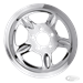 CHROME 5-SPOKE PULLEY COVER FOR 2004 TO PRESENT SPORTSTER