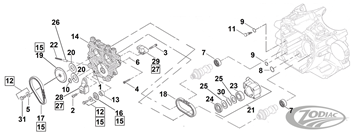 CAM CHAIN PARTS FOR LATE TWIN CAM MODELS