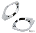 CHROME THROTTLE BODY MOUNTING FLANGES