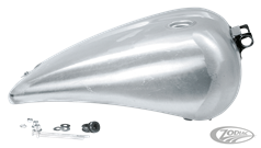 "ONE PIECE 2"" STRETCHED SMOOTH TOP STEEL GAS TANK FOR DYNA MODELS"
