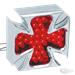 MALTESE CHROME PLATED BILLET ALUMINUM LED MALTESE CROSS TAILLIGHT