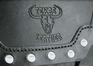 TEXAS LEATHER THROW-OVER SADDLEBAGS