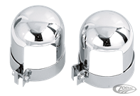 CHROME SHOCK COVERS FOR HARLEY-DAVIDSON