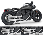 """FREEDOM 4"""" SLIP-ONS FOR INDIAN SCOUT"""